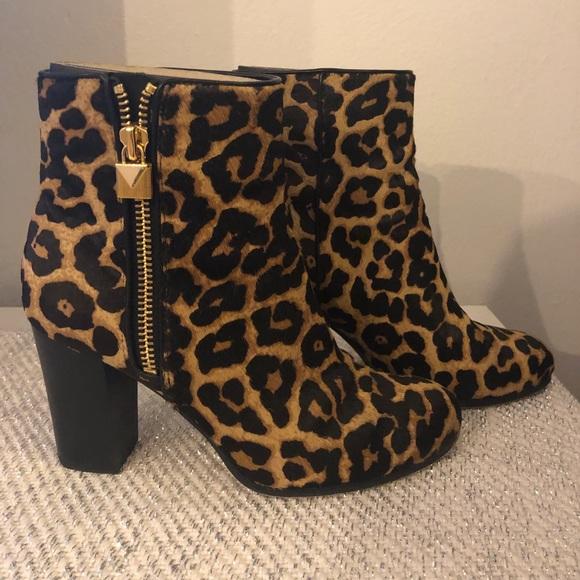 Michael Kors Shoes - Michael Kors Margaret Leonard Calf Hair Ankle Boot